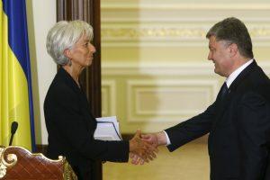 Ilgai delsęs TVF patvirtino 1 mlrd. dolerių išmoką Ukrainai