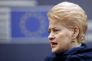 D. Grybauskaitė įvardijo didžiausius ES iššūkius