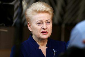 Valstiečių ir konservatorių nesutaiko net D. Grybauskaitė