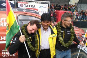 Dakaro ralis: Bolivijos prezidentą sužavėjo vėliavų panašumai