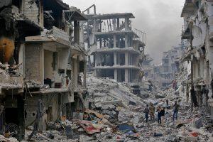 Žiniasklaida: JAV koalicijos aviacija smogė režimo pozicijoms Sirijoje