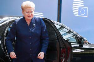 """Prezidentė vyksta į viršūnių susitikimą tartis dėl """"Brexit"""", ES reformų"""