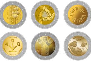 Baltijos šalių šimtmečiui skirtos monetos dizainą rinks gyventojai (balsuokite!)