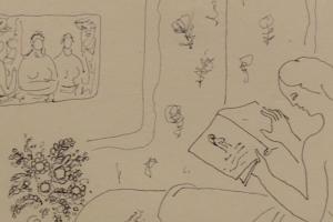 Pirmą kartą eksponuojami V. Kasiulio darbų eskizai