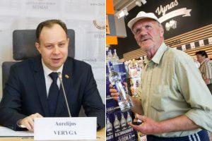 A. Veryga stengiasi dar pabranginti alkoholį