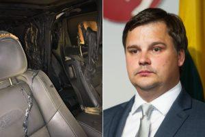 Šiauliuose supleškėjo kandidato į merus M. Veličkos automobilis