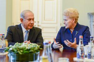 Izraelio premjeras iš D. Grybauskaitės išgirdo ir kritikos
