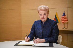 D. Grybauskaitė pagerbė velionio JAV prezidento G. H. W. Busho atminimą