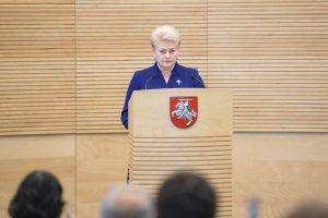 """Dažniausi žodžiai D. Grybauskaitės kalboje – """"mūsų"""", """"valstybės"""" ir """"reikia"""""""