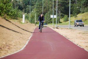 Beveik 1 kilometro ilgio raudonas dviračių takas sujungs Pilaitę su Senamiesčiu