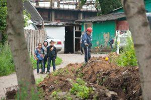 Nelegalius statinius Vilniaus tabore griauna patys romai