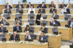 Parlamentarai dėl savo atostogų linksta prie vieno siūlymo