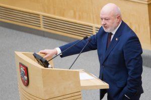 Seimo liberalų seniūnu perrinktas E. Gentvilas