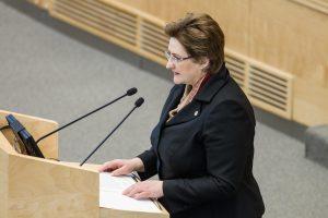 Seimo pirmininkė ragina frakcijas siūlyti atstovus į Etikos komisiją