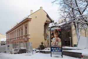 Ekspertai vertins Vilniuje įgriuvusio pastato būklę ir ieškos kaltininkų