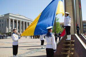 Lietuva siunčia sveikinimus Ukrainai, mininčiai Nepriklausomybės dieną
