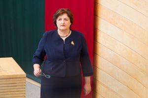 Seimo pirmininkė: VTEK išvada turės įtakos sprendžiant dėl A. Normanto karjeros