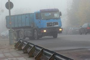 Šilalės rajone eismo sąlygas sunkina rūkas