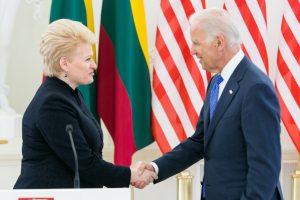 D. Grybauskaitė susitinka su JAV viceprezidentu J. Bidenu