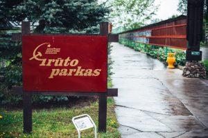 Užkliuvo Grūto parko sovietinė simbolika