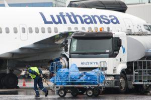 """""""Lufthansa"""" antradienį po pietų neskraidins iš Vilniaus į Frankfurtą"""