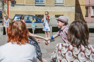 Uostamiesčio gatvės virto scena jauniesiems atlikėjams
