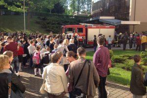 M. K. Čiurlionio menų mokykloje – praktiška evakuacijos pamoka