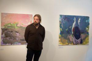 Į naują parodą G. Jagminas pakvietė ir netikėtą svečią