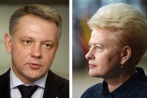 """E. Masiulis """"MG Baltic"""" perdavė prezidentės prašymą """"patraukti skaliką"""""""