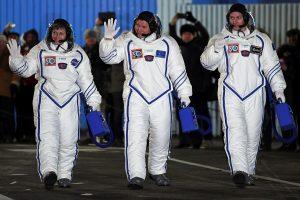 Į TKS sėkmingai išskrido raketa su trimis astronautais