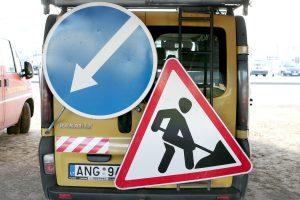 Dėl sostinės gatvių tvarkymo – laikini eismo ribojimai