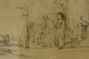 Alantos dvare bibliografinė retenybė – Rembrandto piešinių aplankas