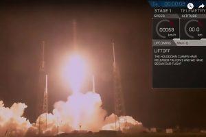 """""""SpaceX"""" raketos iškeltas JAV karinis palydovas nepasiekė numatytos orbitos"""
