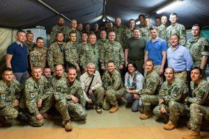 Ministras R. Karoblis susitiko su Malyje tarnaujančiais Lietuvos kariais
