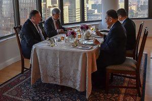 M. Pompeo surengė didkepsnių vakarienę Š. Korėjos aukšto rango pareigūnui