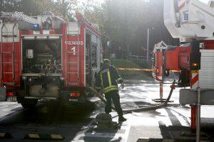 Prabangiame Vilniaus viešbutyje užsidegė lubos, teko evakuoti žmones