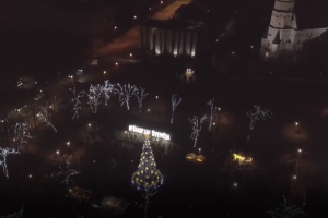 Šiauliai įžiebė jaukumu dvelkiančią Kalėdų eglę