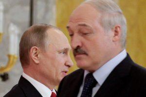 A. Lukašenka išvyko į Sočį derybų su V. Putinu