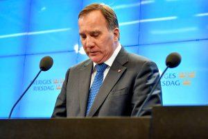 Švedijos premjerui S. Lofvenui nepavyko suformuoti vyriausybės