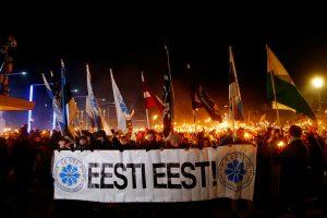 Rinkimams besiruošiančioje Estijoje nacionalistai surengė dideles eitynes