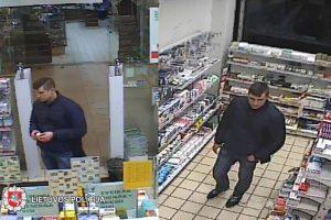 Panevėžio vaistinėje – įžuli vagystė: ieškomas vyras pasisavinęs prekes