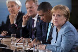 """A. Merkel: D. Trumpo pozicija dėl G7 """"atvėrė akis"""""""