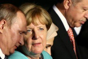 V. Putinas, A. Merkel ir R. T. Erdoganas aptarė Irano branduolinį susitarimą