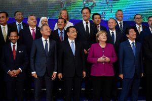 ES ir Azijos lyderių susitikime A. Merkel stojo į laisvosios prekybos gynybą