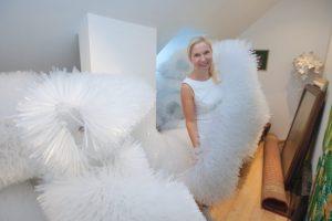 Kauno kalėdinės eglės kūrėja J. Šmidtienė: sniego jau iki lubų