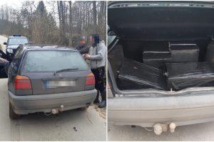 Pasieniečiai sulaikė rūkalus gabenusius alytiškius: kontrabandos net nebandė slėpti