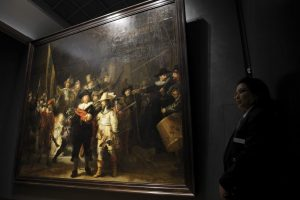 """Visuomenei bus suteikta galimybė stebėti Rembrandto """"Nakties sargybos"""" restauravimą"""