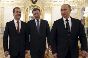 Mokslininkai: V. Putinas ir kiti buvę KGB pareigūnai pasižymi keista eisena