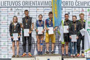 """Kauno """"Medeinos"""" ekipa – Lietuvos čempionė orientavimosi sprinto estafečių trasoje"""