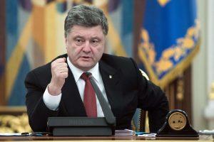Ukrainos politologai: prezidentas P. Porošenka daro klaidų